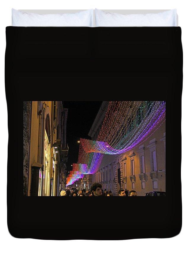 Via Mario De Fiori Duvet Cover featuring the photograph Via Mario De Fiori by Tony Murtagh