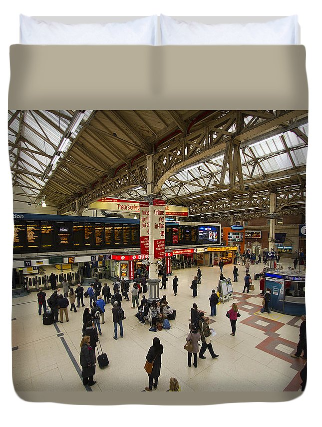 Stations Duvet Cover featuring the photograph Victoria Railway Station London by David French