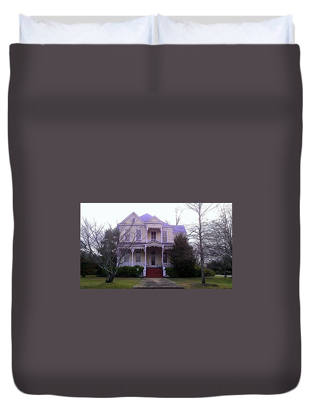 House Duvet Cover featuring the photograph Victorian 1 by Lew Davis