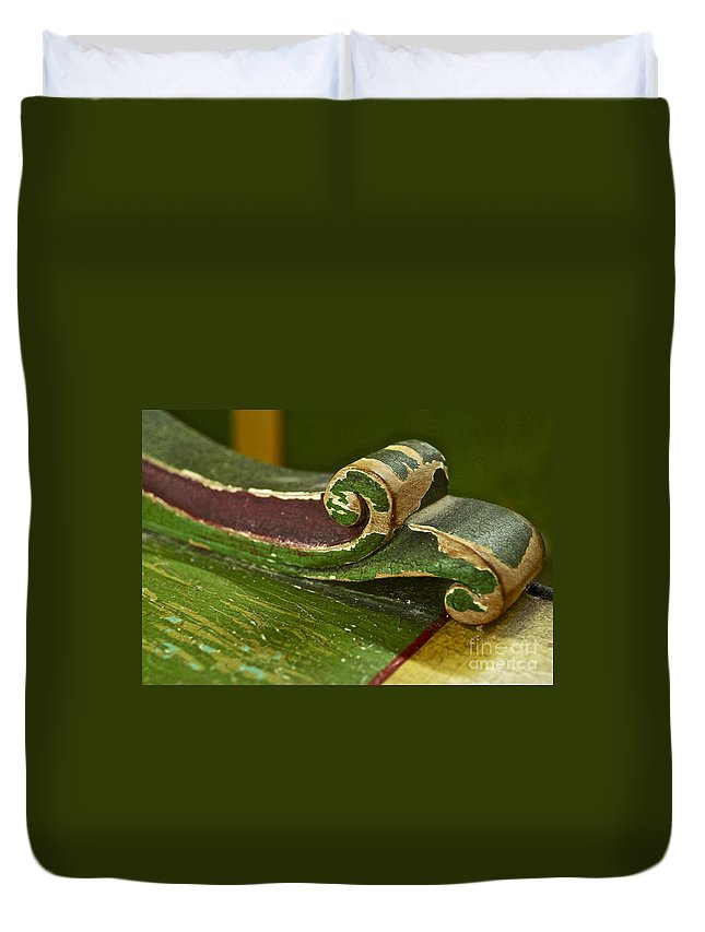 Victorian Duvet Cover featuring the photograph Victorian Curves by Gwyn Newcombe