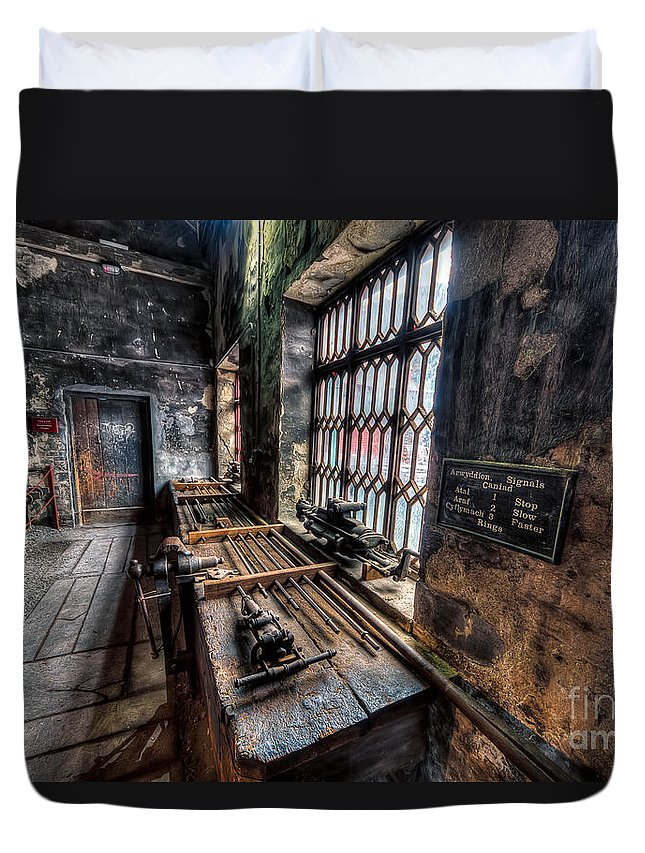 Architecture Duvet Cover featuring the photograph Victorian Workshops by Adrian Evans