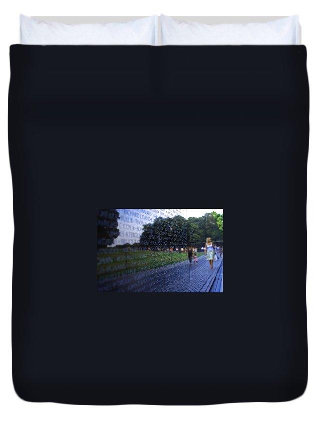 Vietnam Duvet Cover featuring the photograph Vietnam War Memorial by Pablo Rosales