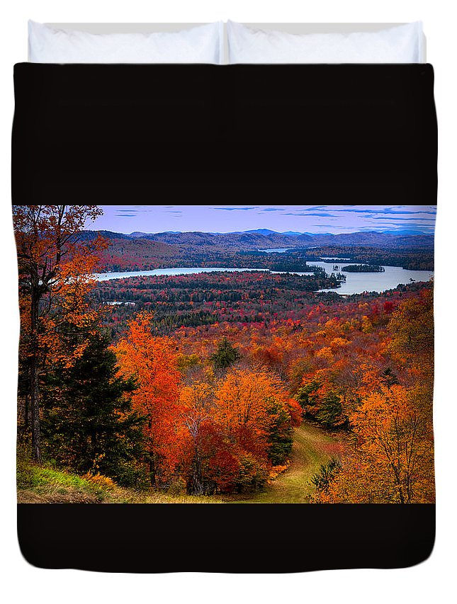 View From Mccauley Mountain Ii Duvet Cover featuring the photograph View From Mccauley Mountain II by David Patterson