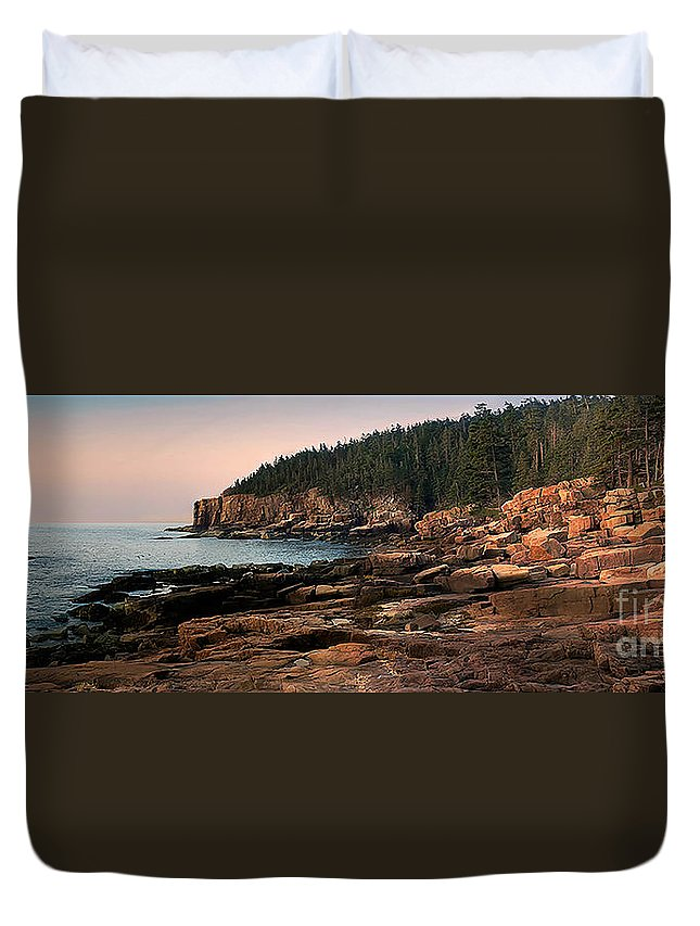 Acadia National Park Duvet Cover featuring the photograph View From Ocean Drive Maine by Jerry Fornarotto