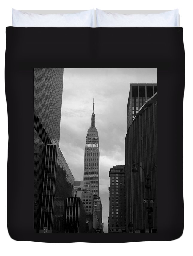 Madison Square Garden Duvet Cover featuring the photograph View From The Garden by Nicole Colella