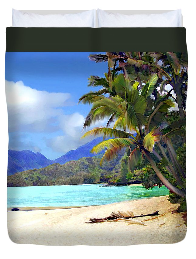 Hawaii Duvet Cover featuring the photograph View From Waicocos by Kurt Van Wagner