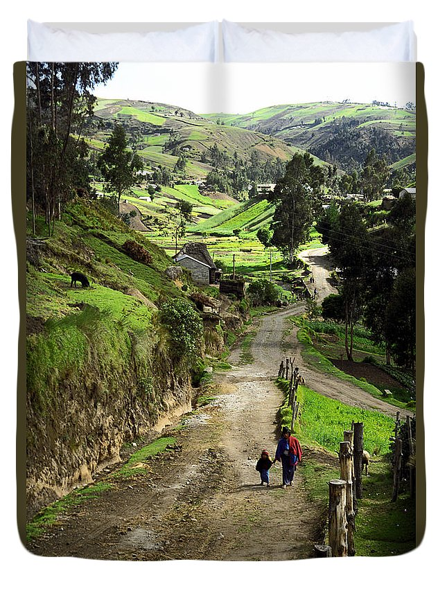 Ecuador Duvet Cover featuring the photograph View Of Lupaxi by Kathy McClure