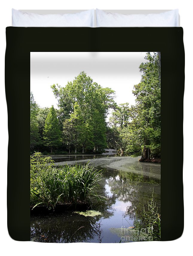 Ake Duvet Cover featuring the photograph View Over Magnolia Plantation Lake by Christiane Schulze Art And Photography