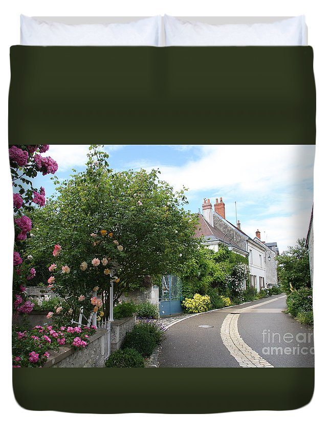 Village Duvet Cover featuring the photograph Village Road by Christiane Schulze Art And Photography