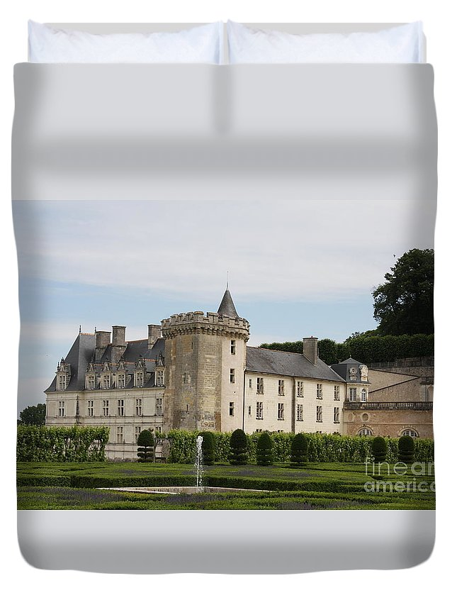 Palace Duvet Cover featuring the photograph Villandry Chateau And Boxwood Garden by Christiane Schulze Art And Photography