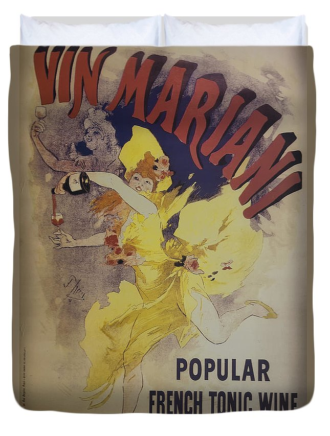 Vin Marian Duvet Cover featuring the photograph Vin Marian French Tonic Wine Dsc05581 by Greg Kluempers