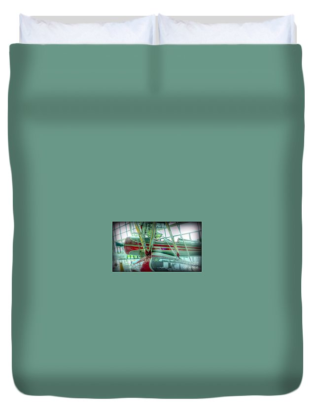 Duvet Cover featuring the photograph Vintage Airplane Two by Susan Garren