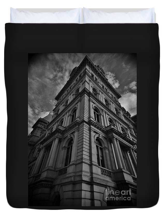 Duvet Cover featuring the photograph Vintage Albany by Chet B Simpson