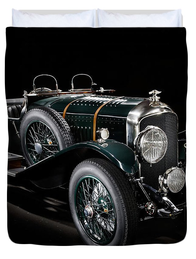 Bentley Duvet Cover featuring the photograph Vintage Bentley 4.5 Liter Le Mans by Frank Kletschkus