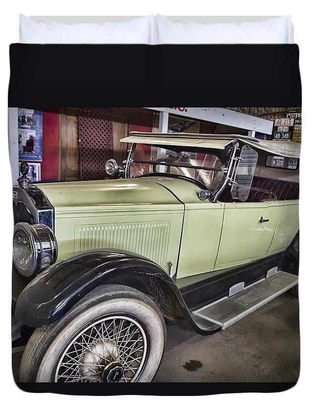 Vintage Bugatti Duvet Cover featuring the photograph Vintage Bugatti by Douglas Barnard