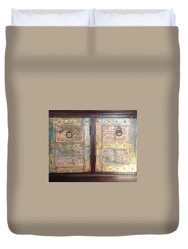 Cabinet Duvet Cover featuring the photograph Vintage Cabinet by To-Tam Gerwe