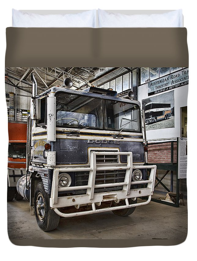 Vintage Dodge Truck Duvet Cover featuring the photograph Vintage Dodge Truck by Douglas Barnard
