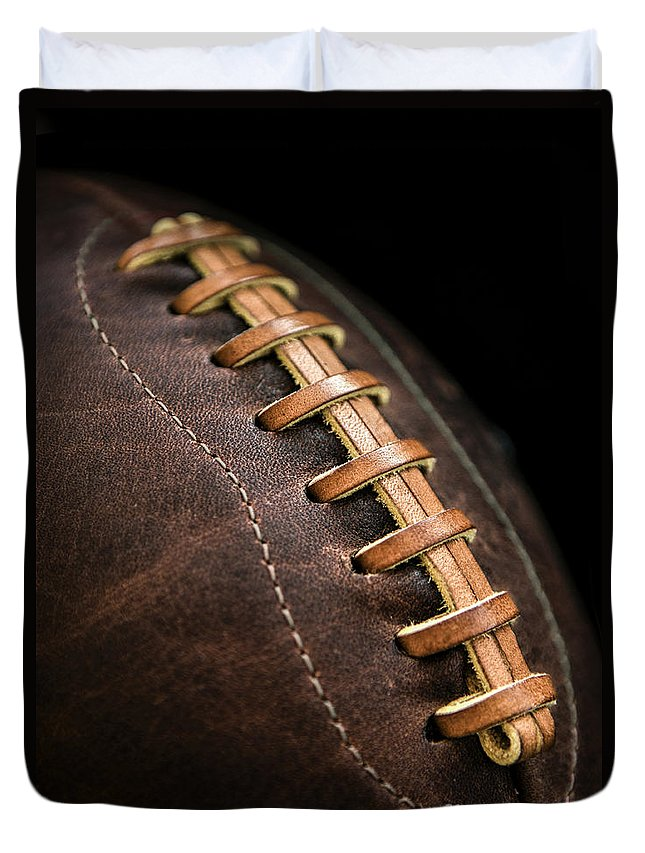 Football Duvet Cover featuring the photograph Vintage Football by Diane Diederich