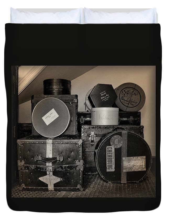 Vintage Duvet Cover featuring the photograph Vintage Luggage by Bill Cannon