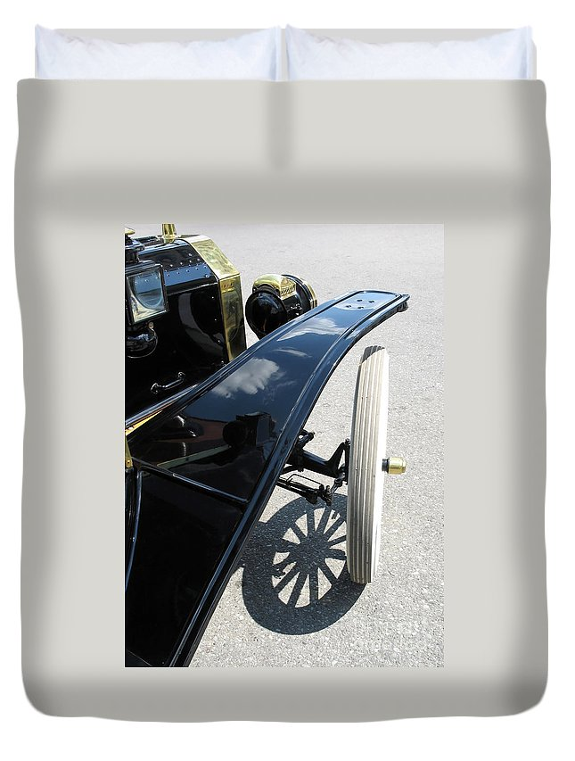 Model T Duvet Cover featuring the photograph Vintage Model T by Ann Horn