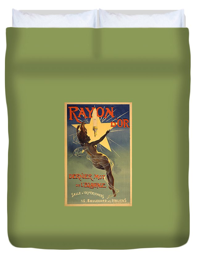 Vintage Advertising Poster Duvet Cover featuring the photograph Vintage Poster 1 by Andrew Fare