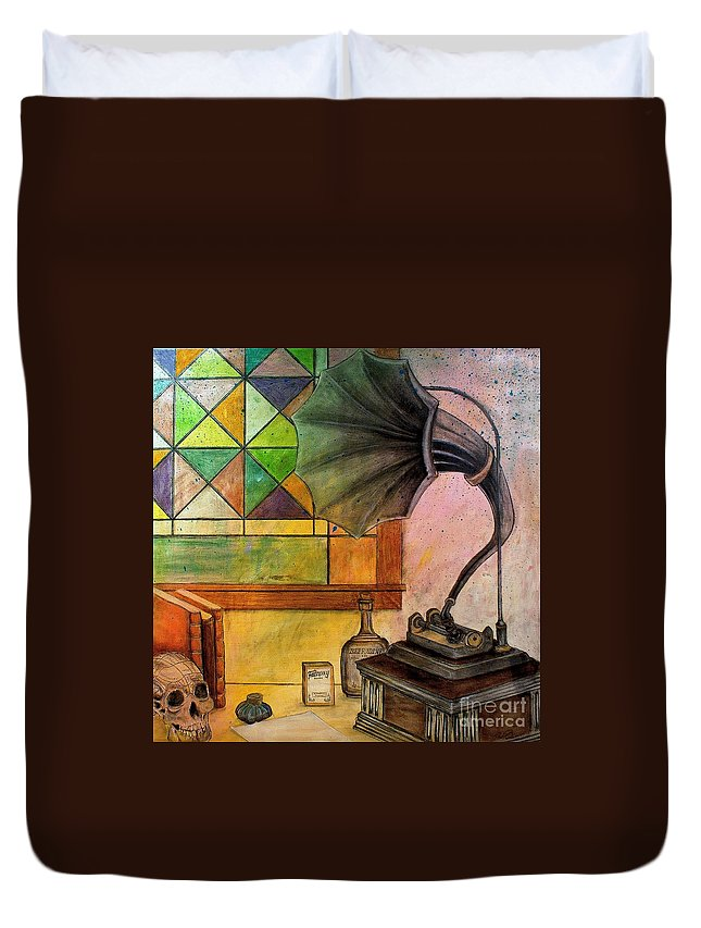 Old Time Duvet Cover featuring the painting Vintage by Ryan Burton