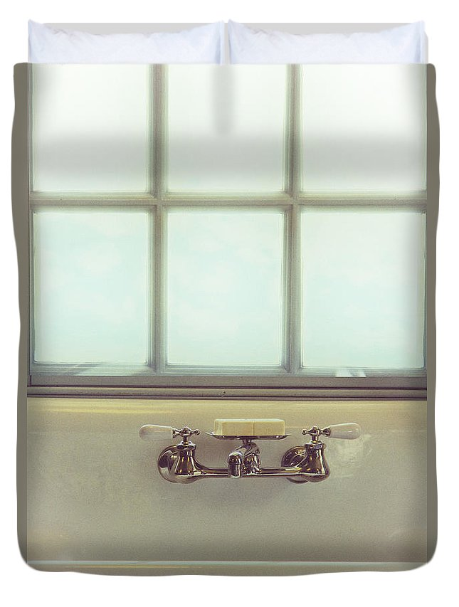 House Duvet Cover featuring the photograph Vintage Soap by Margie Hurwich