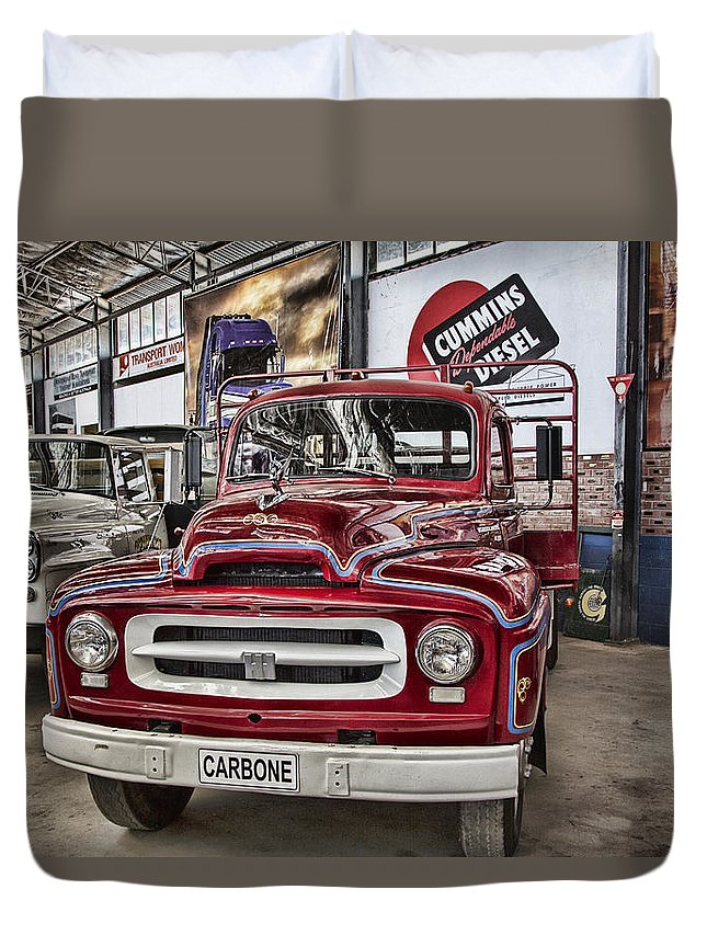 Vintage Truck Duvet Cover featuring the photograph Vintage Truck by Douglas Barnard
