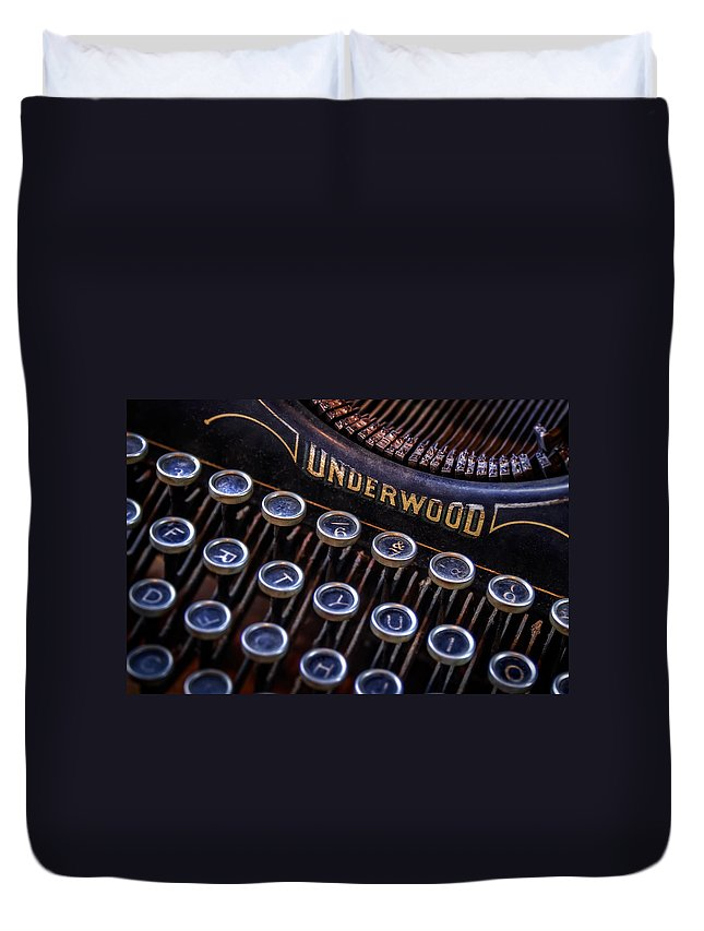 Retro Duvet Cover featuring the photograph Vintage Typewriter 2 by Scott Norris