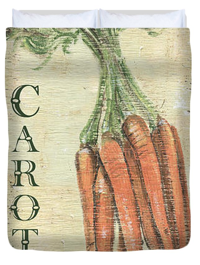 Kitchen Duvet Cover featuring the painting Vintage Vegetables 4 by Debbie DeWitt