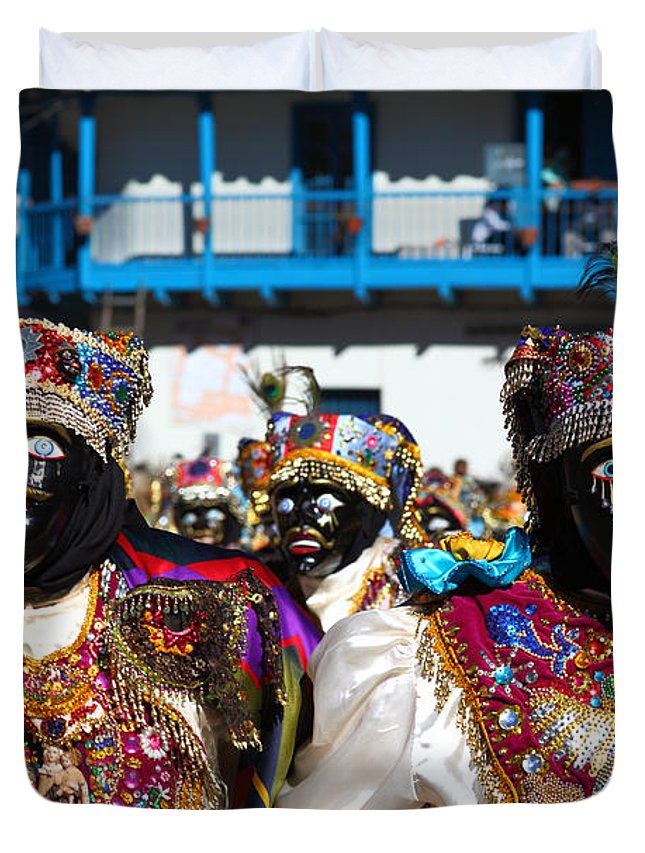 Peru CANVAS Masked Dancer at Virgin Del Carmen Festival Art print POSTER