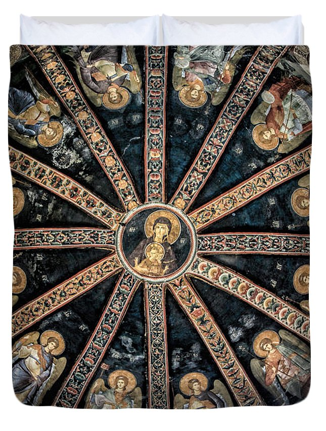 Christ Duvet Cover featuring the photograph Virgin And Child by Stephen Stookey