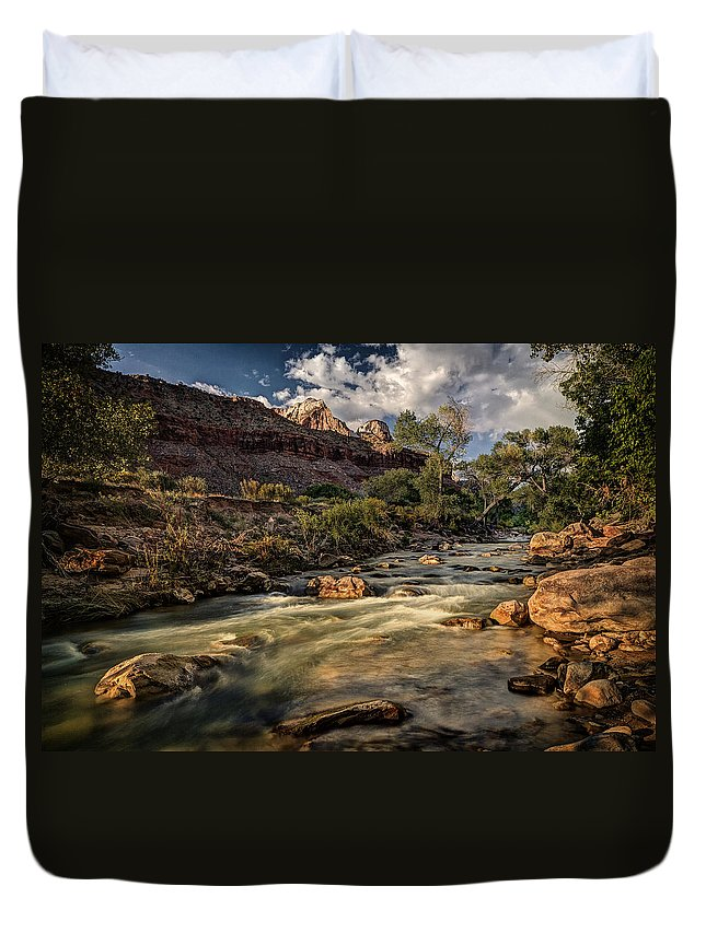 Jeff Duvet Cover featuring the photograph Virgin River by Jeff Burton