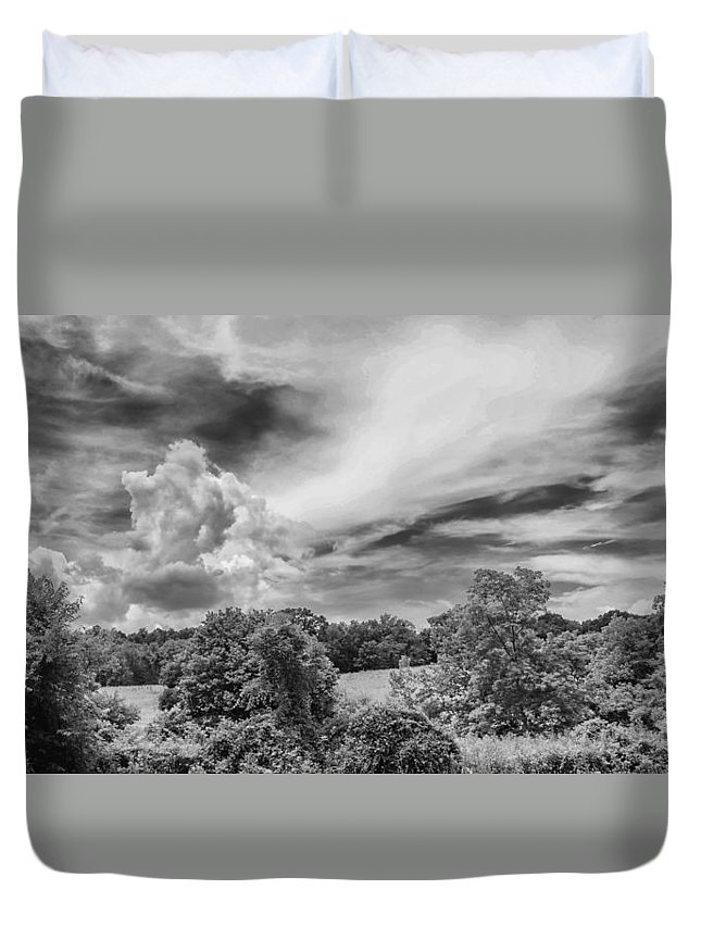 Clouds Duvet Cover featuring the photograph Virginia Clouds by Guy Whiteley