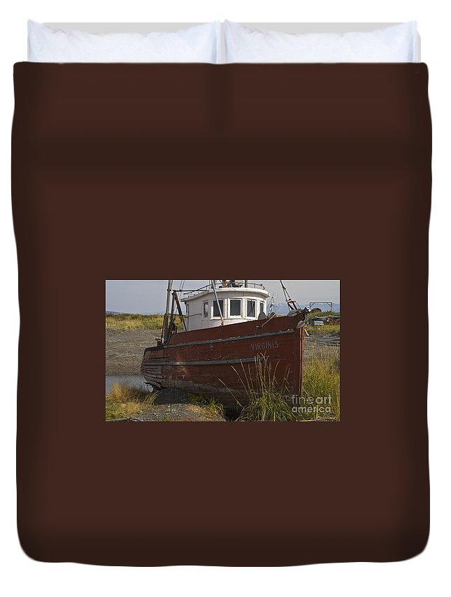 Boat Duvet Cover featuring the photograph Virginis by Rick Monyahan