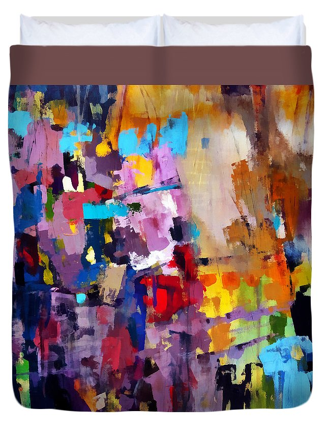 Katieblack Duvet Cover featuring the painting Vista by Katie Black