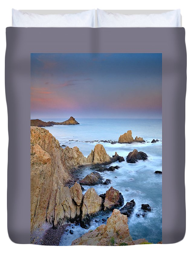 Seascape Duvet Cover featuring the photograph Volcanic Planet by Guido Montanes Castillo