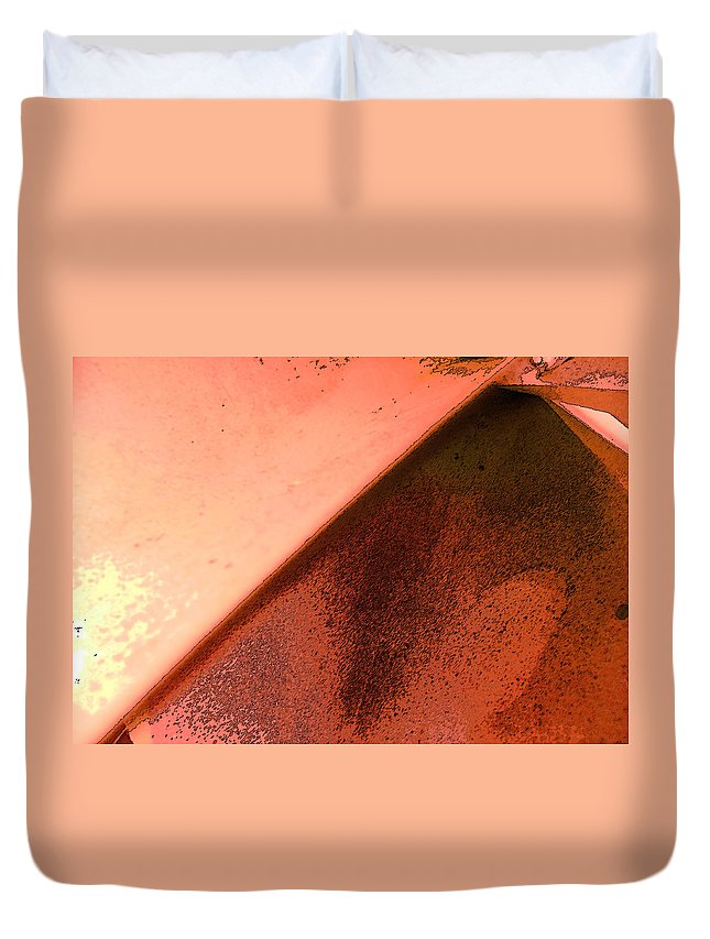 Abstract Duvet Cover featuring the photograph Volcano As Geometric Equation by Lenore Senior