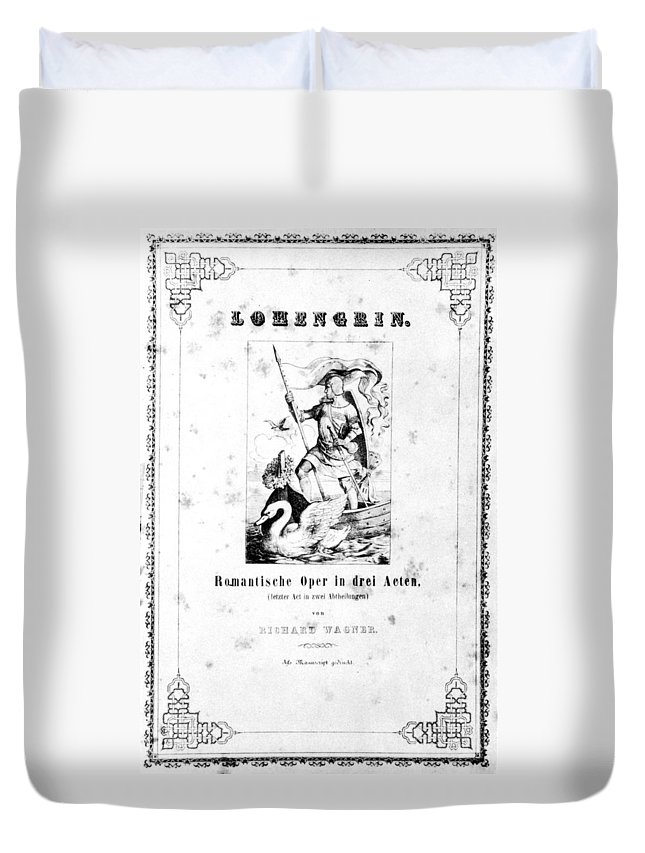 19th Century Duvet Cover featuring the painting Wagner Lohengrin, 1850 by Granger
