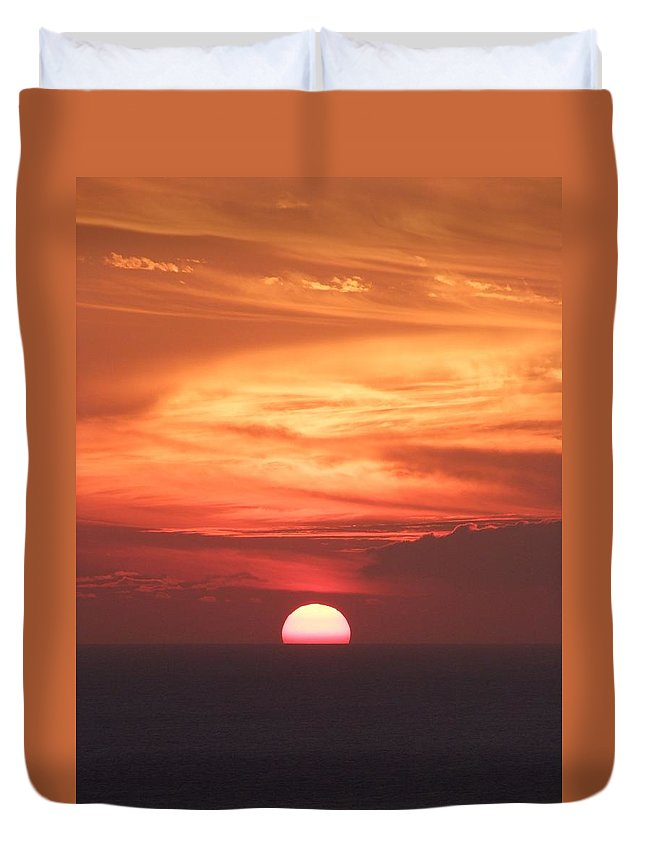 Mary Deal Duvet Cover featuring the photograph Waikiki Sunset No 2 by Mary Deal