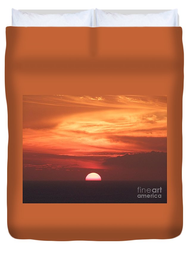 Sunset Duvet Cover featuring the photograph Waikiki Sunset No 3 by Mary Deal