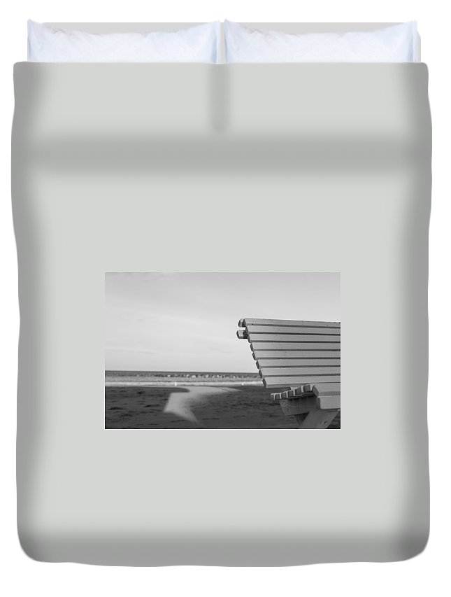 35mm Duvet Cover featuring the photograph Waiting by Andrea Mazzocchetti