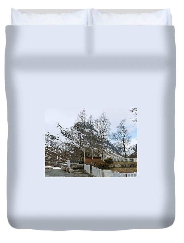 Duvet Cover featuring the photograph Waiting For Spring by Katerina Naumenko