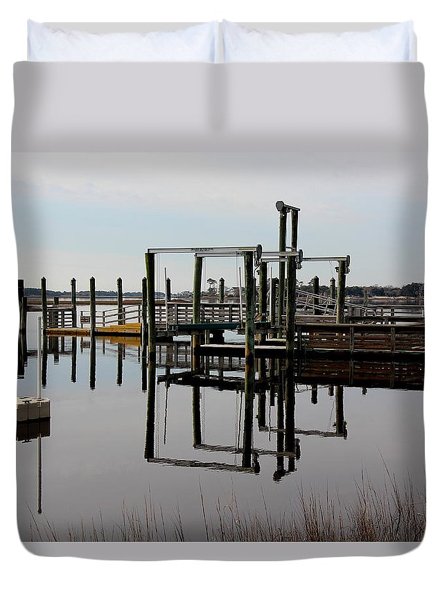 Paddle Boat Duvet Cover featuring the photograph Waiting For Spring by Rand Wall