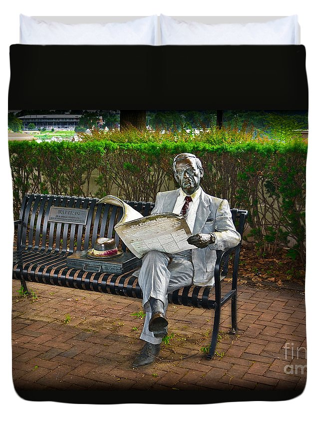 Artist Duvet Cover featuring the photograph Waiting by Gary Keesler