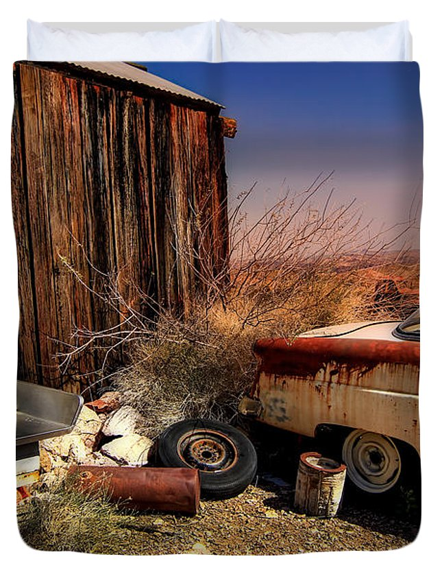 Car Duvet Cover featuring the photograph Waiting on a Woman by Brenda Giasson