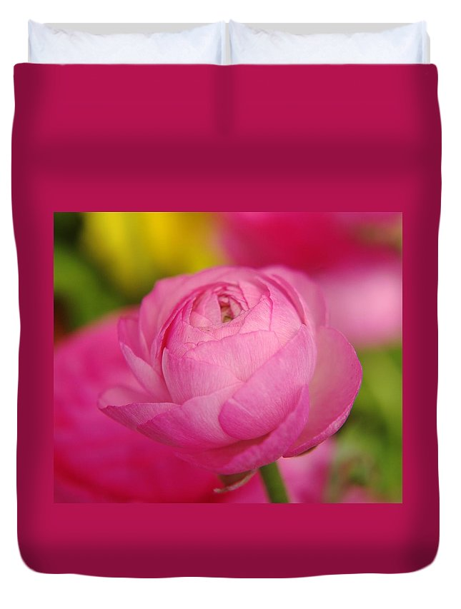 Flower Duvet Cover featuring the photograph Waiting To Unfurl by Jeff Swan
