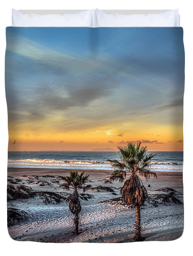 California Duvet Cover featuring the photograph Wake Up For Sunrise In California by Ludmila Nayvelt