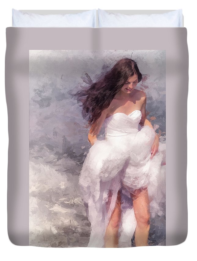 Bride Duvet Cover featuring the photograph Walk Off The Earth by Jenny Rainbow