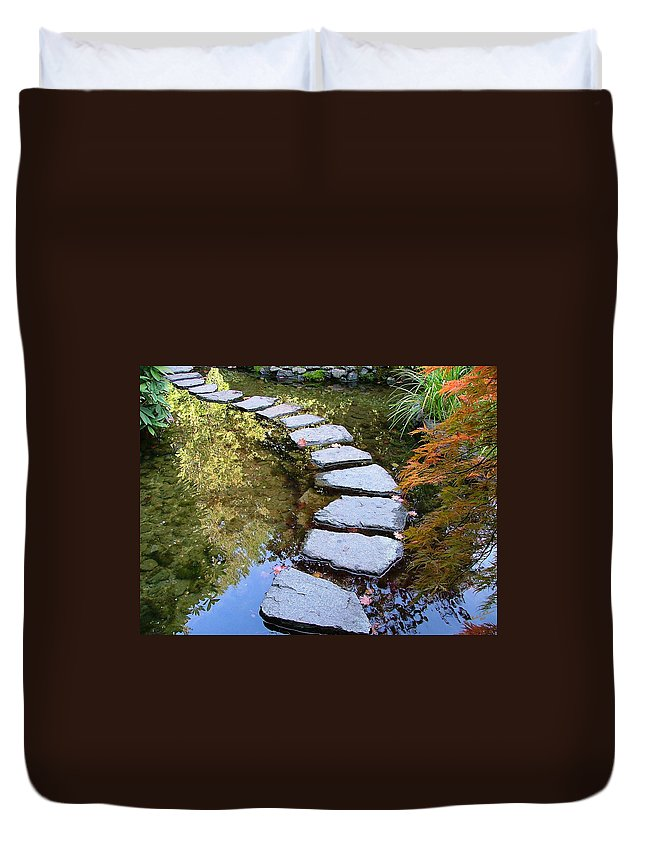 Ponds Duvet Cover featuring the photograph Walk On Water by Wendy McKennon